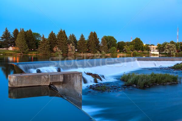 Idaho breed waterval slang rivier schemering Stockfoto © pngstudio