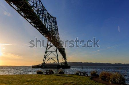 Köprü Washington Oregon ağız Stok fotoğraf © pngstudio