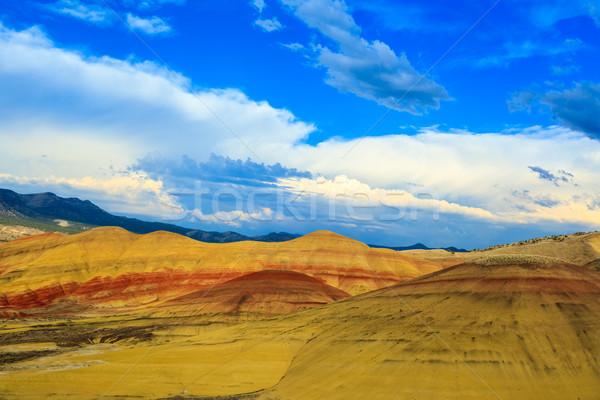 Boyalı tepeler renkli gün fosil doğa Stok fotoğraf © pngstudio