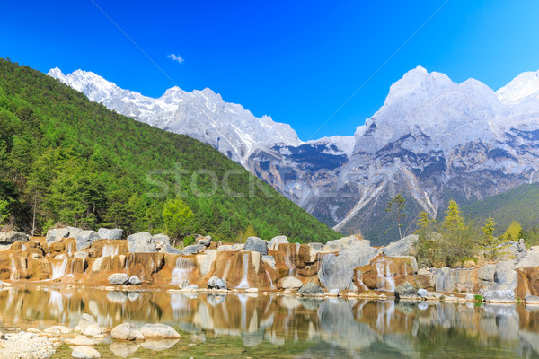 Dragão neve montanha ver rio sudoeste Foto stock © pngstudio