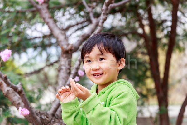 çocuklar ifadeler çok güzel kız gülümsüyor orman Stok fotoğraf © pngstudio