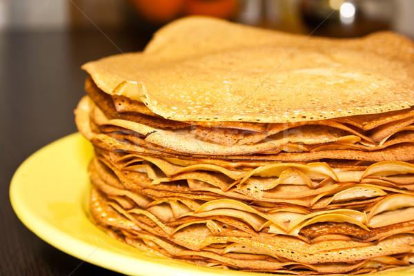 Pancakes on pancake week Stock photo © podsolnukh