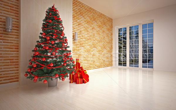 Christmas  interior Stock photo © podsolnukh
