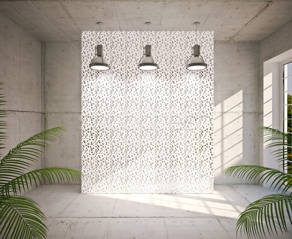 Modern empty interior Stock photo © podsolnukh