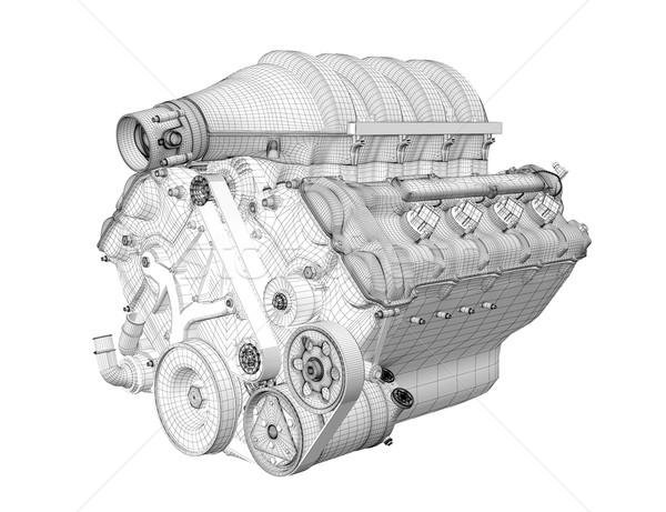 Gasoline engine Stock photo © podsolnukh