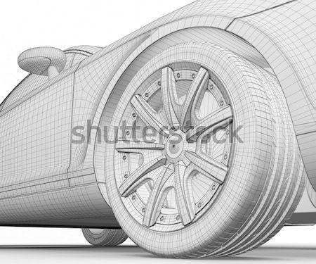 car 3D model Stock photo © podsolnukh