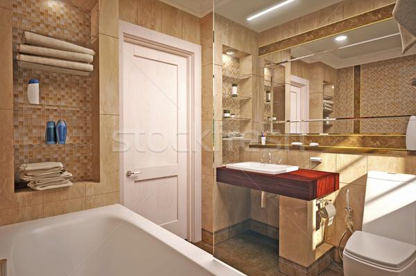 Interior design of  bathroom Stock photo © podsolnukh