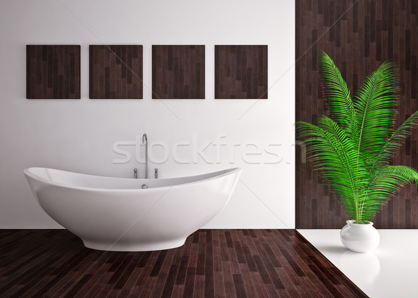 Modern interior of bathroom Stock photo © podsolnukh