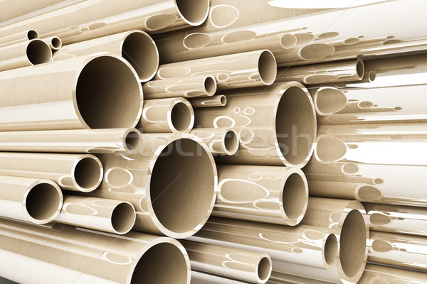 Stack of steel tubing, stainless tubes Stock photo © podsolnukh