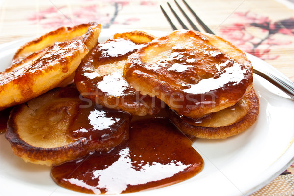 pancakes with jam on pancake week Stock photo © podsolnukh