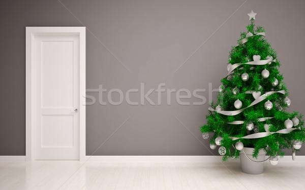 Christmas Empty interior Stock photo © podsolnukh