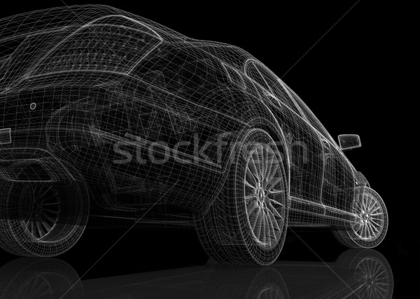 Stock photo: Car 3D model