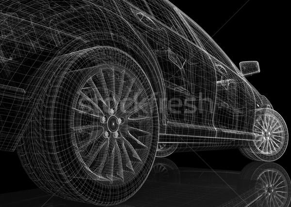 Stock photo: Car 3D model