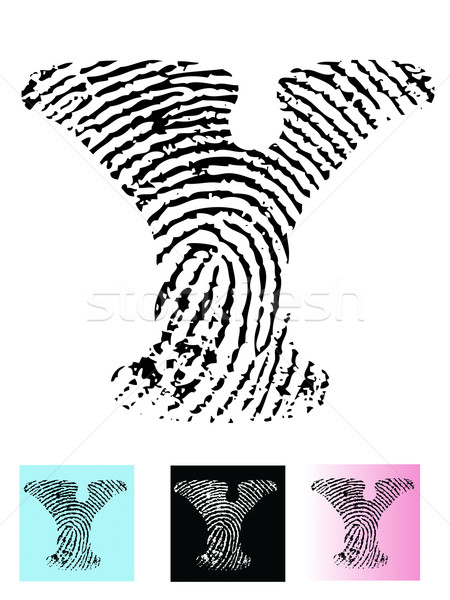 Fingerprint Alphabet Letter Y Stock photo © PokerMan