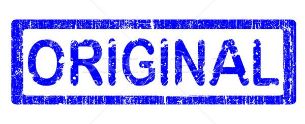 Grunge bureau tampon originale mot texte Photo stock © PokerMan