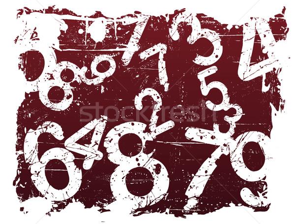 Grunge Number Background Stock photo © PokerMan