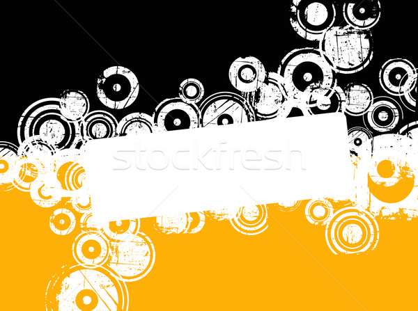 Гранж Круги копия пространства дизайна оранжевый знак Сток-фото © PokerMan