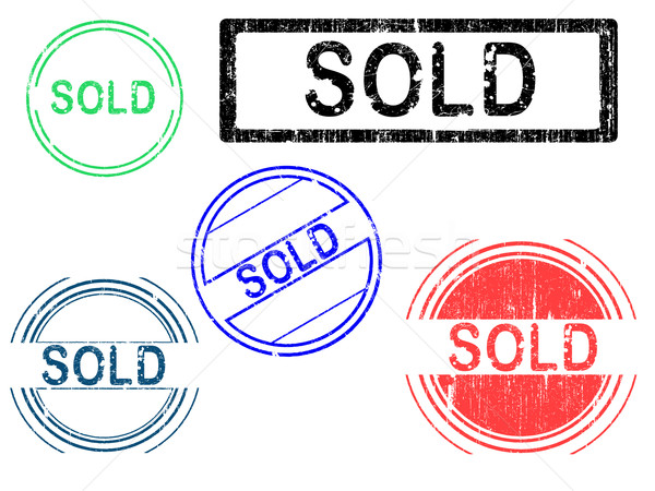 Grunge timbres effet bureau tampon Photo stock © PokerMan
