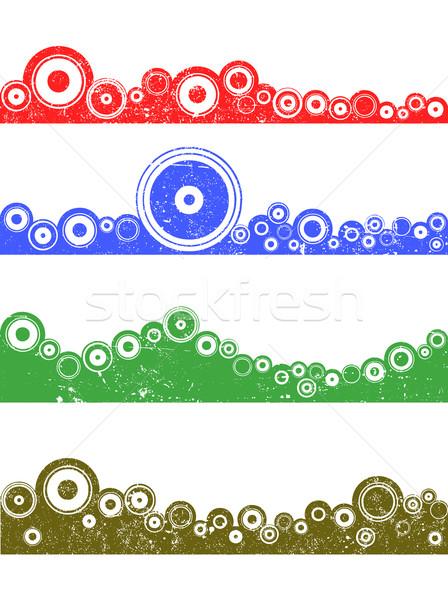 Гранж пейзаж графических Элементы Круги цветами Сток-фото © PokerMan