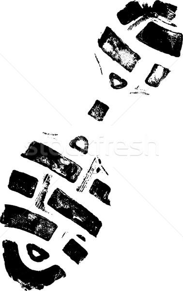 право изолированный подробный вектора ходьбе Сток-фото © PokerMan