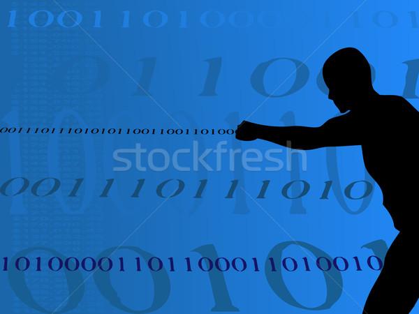 двоичный человека деньги съемки из номера Сток-фото © PokerMan