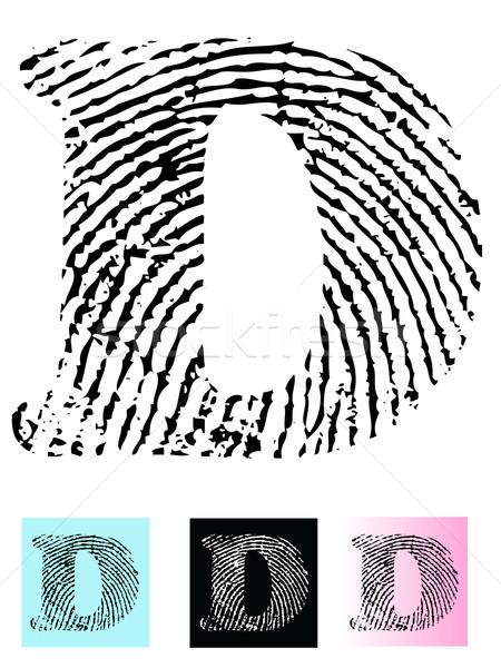 Fingerprint Alphabet Letter D Stock photo © PokerMan