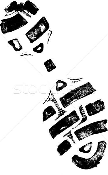 Isolé détaillée vecteur marche chaussures Photo stock © PokerMan