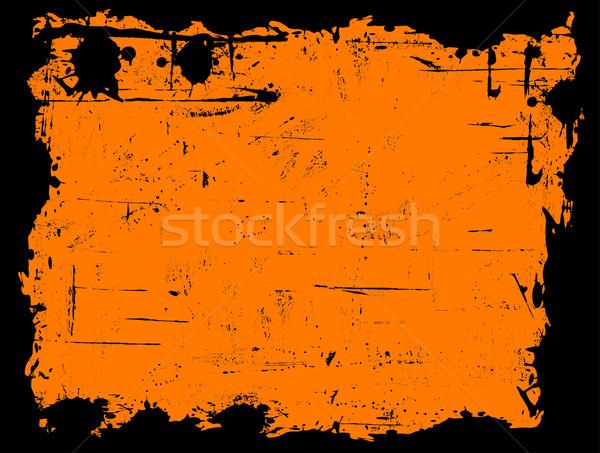 черный границе оранжевый текстуры дизайна краской Сток-фото © PokerMan