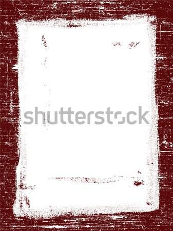 Red Grunged border Stock photo © PokerMan