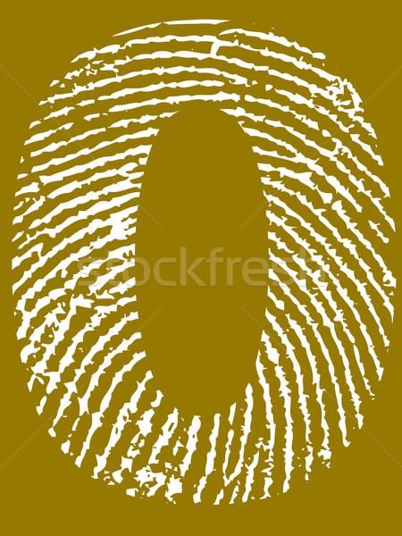 Fingerprint Number 0 Stock photo © PokerMan