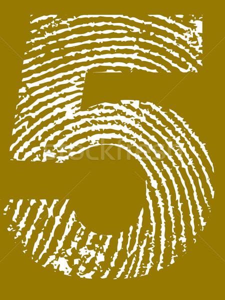 Fingerprint Number 5 Stock photo © PokerMan