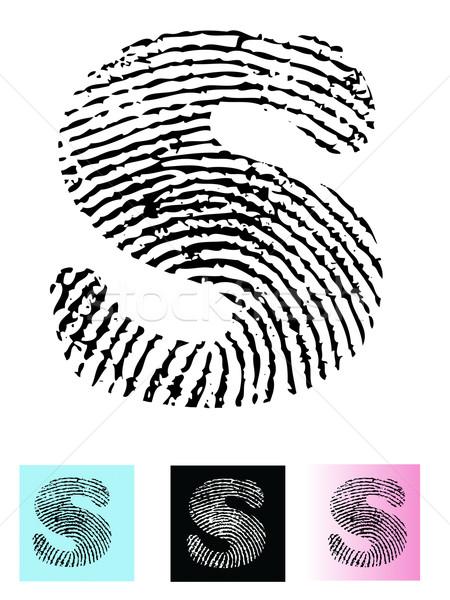 отпечатков пальцев алфавит письме подробный прозрачный Сток-фото © PokerMan