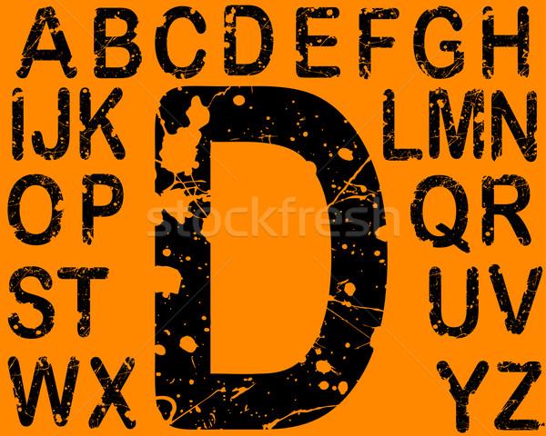 кислота письма шрифт 26 индивидуальный вектора Сток-фото © PokerMan