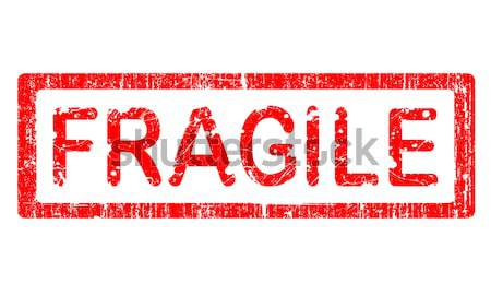 Grunge bureau tampon fragile mot texte Photo stock © PokerMan