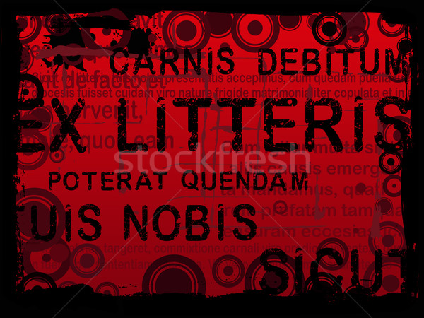 Latin Text Grunge Background 2 Stock photo © PokerMan