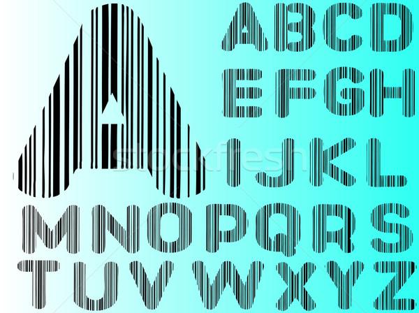 Barcode Alphabet Stock photo © PokerMan