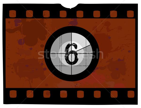 Película cuenta atrás pasado de moda no marco Screen Foto stock © PokerMan