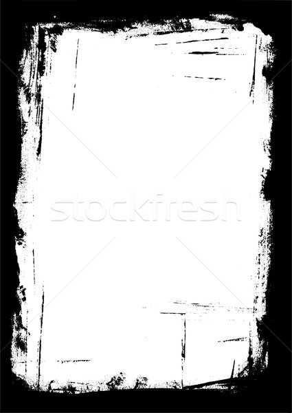 Border of Paint strokes Stock photo © PokerMan