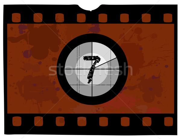 Film conto alla rovescia vecchio stile no frame schermo Foto d'archivio © PokerMan