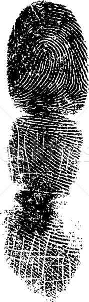 Pełny palców palec szczegółowy wektora obraz Zdjęcia stock © PokerMan