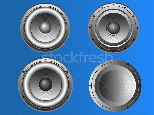 4 Loudspeakers 3 Stock photo © PokerMan