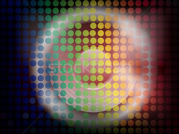 Disco orateur lumineuses lumières design cadre Photo stock © PokerMan