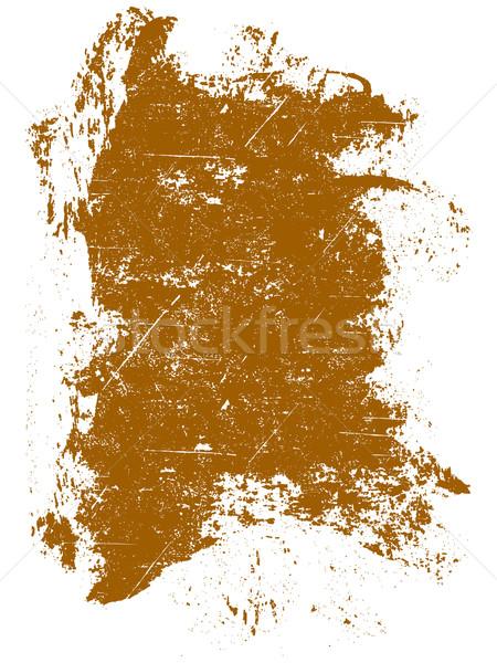 Grunge orange carré détaillée Photo stock © PokerMan
