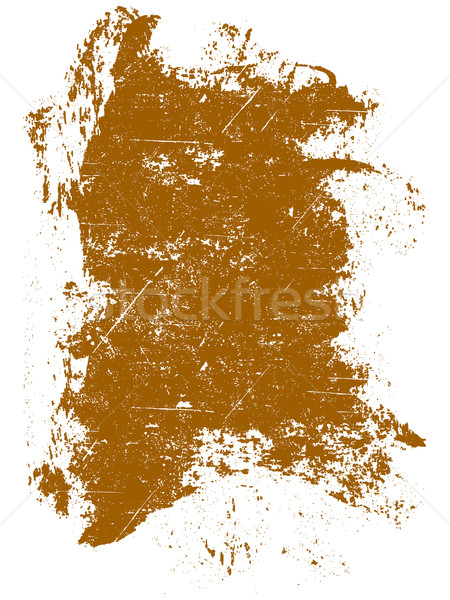 Grunge elements - Orange Grunge Square Stock photo © PokerMan
