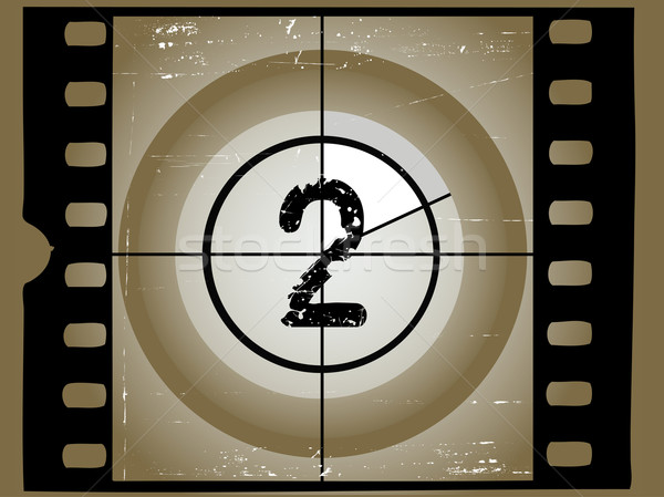 Old Sctratched Film Countdown - At 2 Stock photo © PokerMan