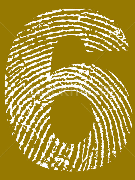 Fingerprint Number 6 Stock photo © PokerMan