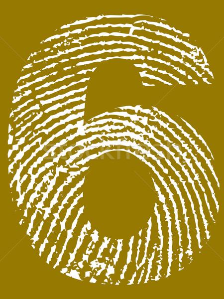 отпечатков пальцев числа подробный Гранж улице Сток-фото © PokerMan