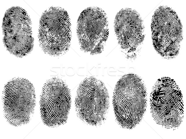 10 FingerPrints  Stock photo © PokerMan