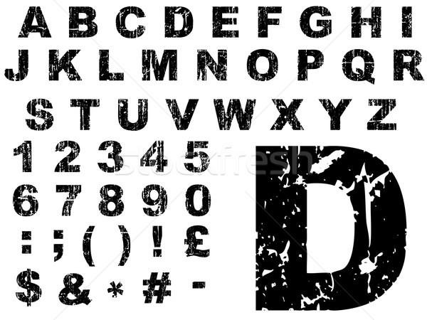 Fat Grunge Alphabet Stock photo © PokerMan