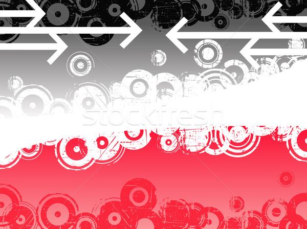 черный розовый Стрелки ретро краской искусства Сток-фото © PokerMan